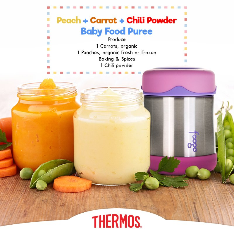 Thermos - Peach + Carrot + Chili Powder Baby Food Puree