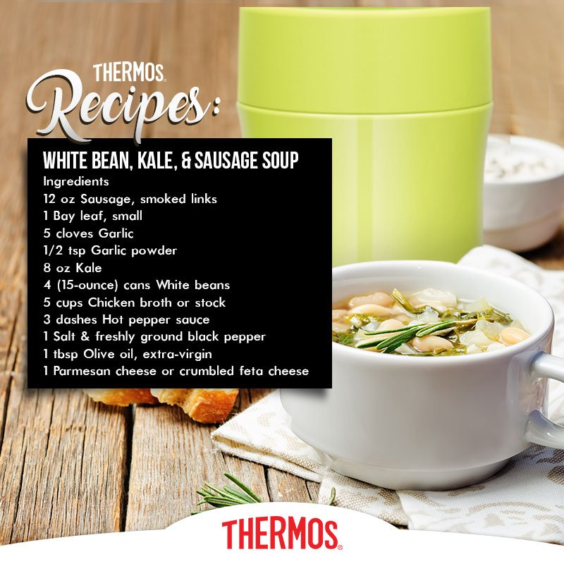 Thermos - White Bean, Kale & Sausage Soup
