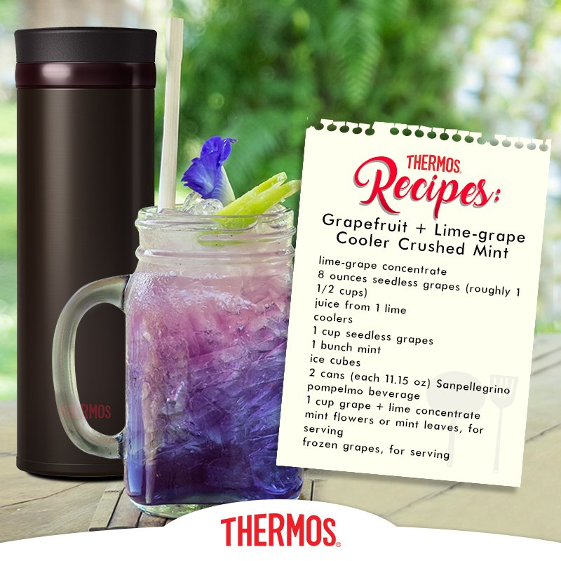 Thermos - Grapefruit + Lime-grape Cooler Crushed Mint