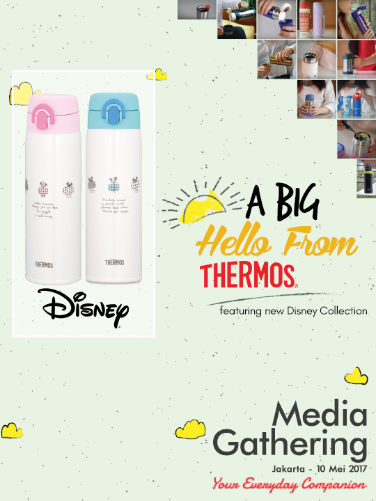 A Big Hello from Cheerful Thermos Disney's Junior One-Push Tumbler