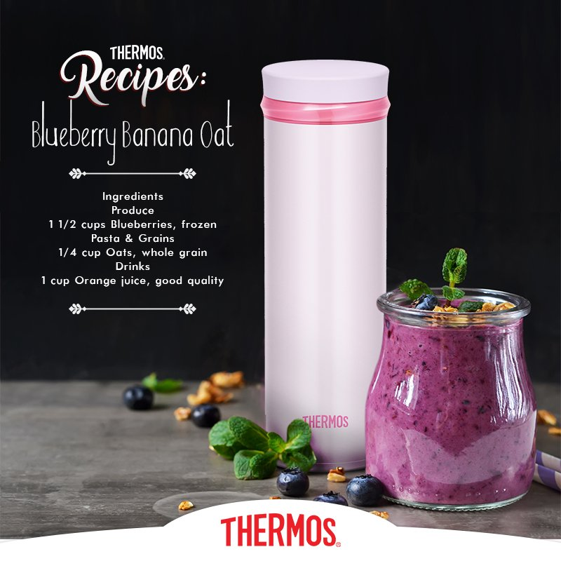 Thermos - Blueberry Banana Oat Smoothie