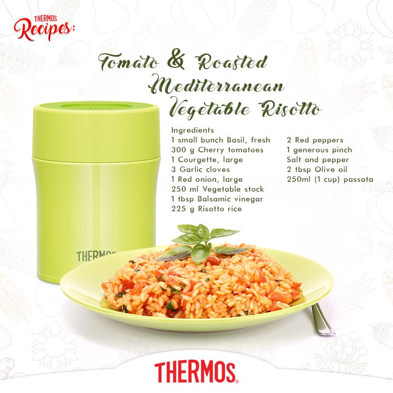 Thermos - Vegetable Risotto with Roasted Tomatoes