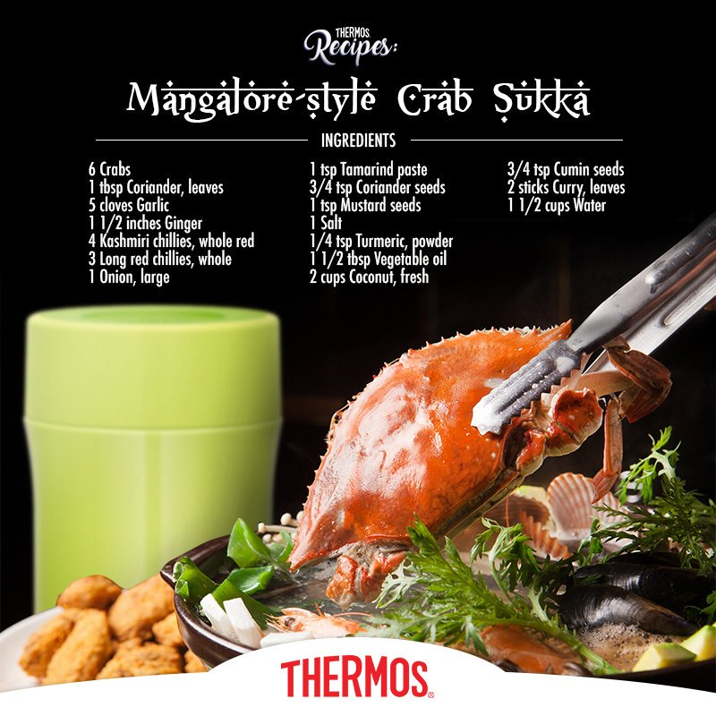 Thermos - Crab Sukka in Mangalore Style