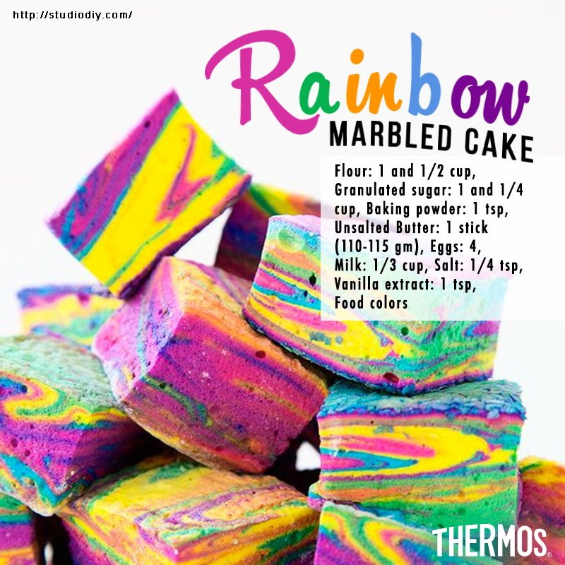 Thermos Indonesia - Rainbow Marbled Cake