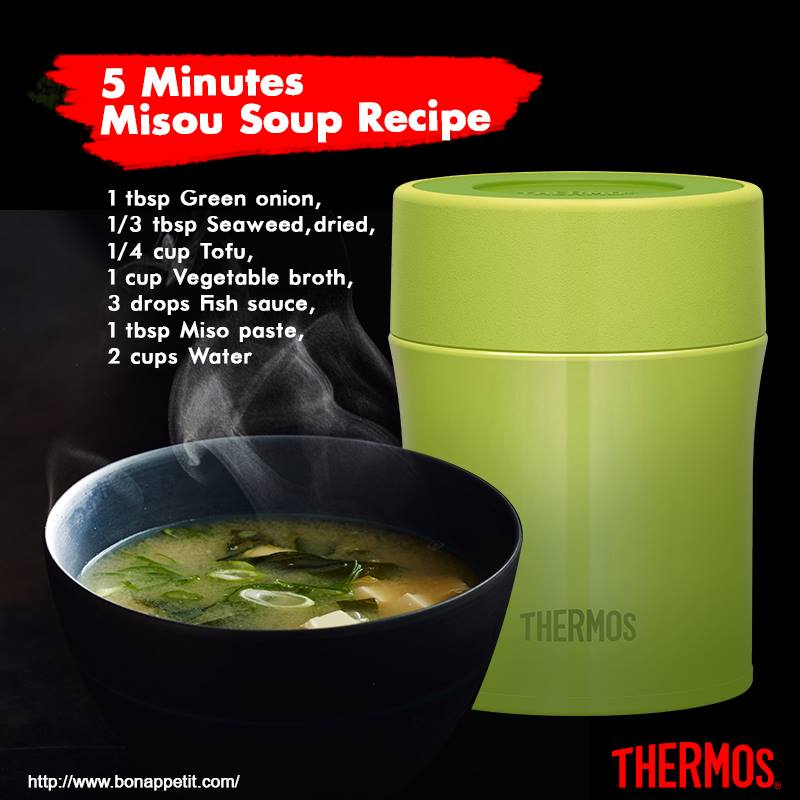 Thermos Indonesia - 5 Minutes Misou Soup Recipe