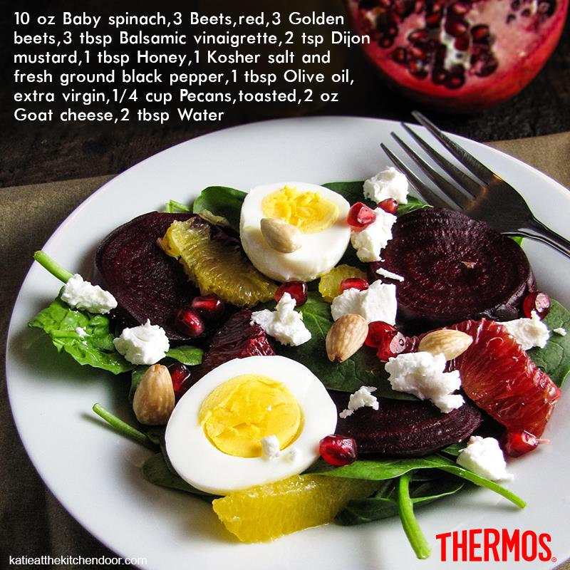 Thermos Indonesia - Roasted Beet, Spinach and Goat Cheese Salad
