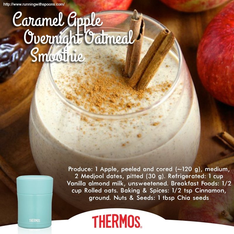 Thermos - Caramel Apple Overnight Oatmeal Smoothie